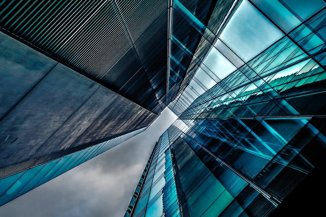 photo of glass wall at varying angles